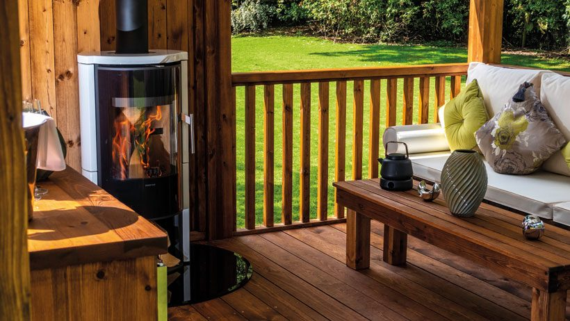 Add some wow factor… with  a woodburning  stove!
